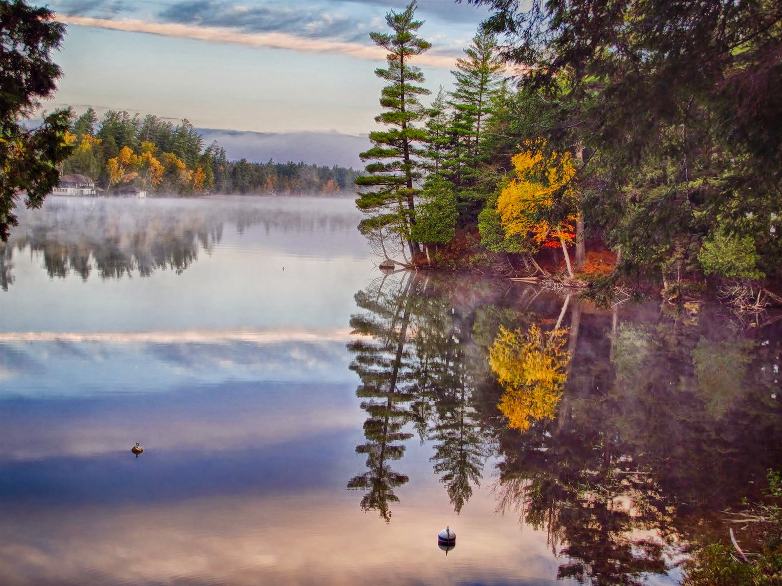 An Intense Fall Reflection by Barbara Franklin