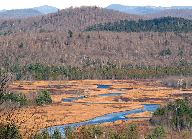 Saranac River from Mount Pisgah 11-8-2015 by Marc Wanner