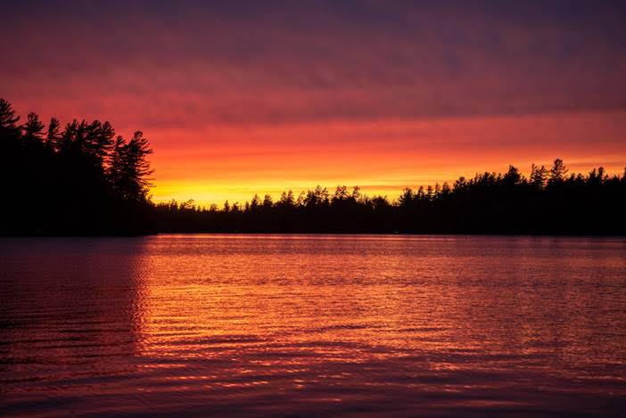 J. Reap: An Early June Sunset on Saranac Shores (Landscape)